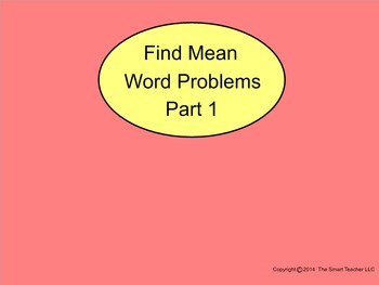 How I Teach Finding Mean Word Problems