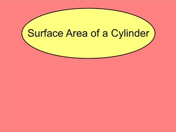 How I Teach Finding the Surface Area of a Cylinder