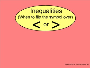 How I Teach Flip or No Flip (Inequality Symbols)