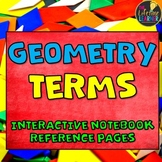 Geometry Vocabulary Terms for Student Notebooks - Geometry References