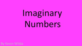 How I Teach Imaginary Numbers