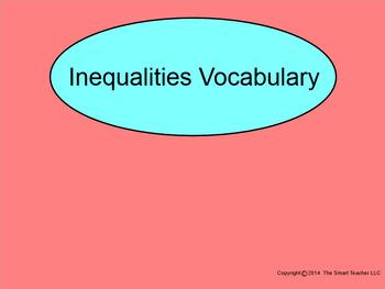 How I Teach Inequalities Vocabulary
