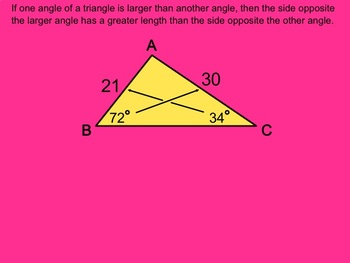 How I Teach Inequalities in Triangles Using the Smartboard.