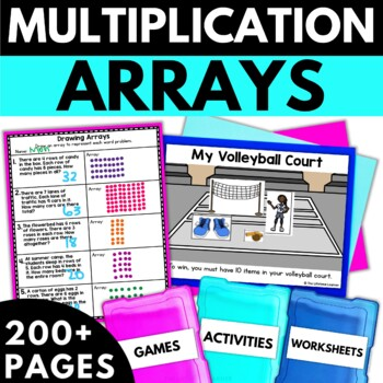 Multiplication Using Arrays - Multiplication Activities