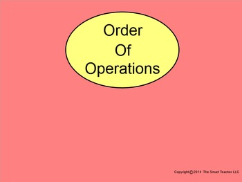 How I Teach Order of Operations