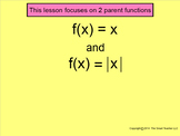 How I Teach Parent Functions and their Transformations