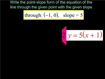 How I Teach Point-Slope Form