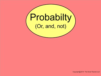 How I Teach Probabilities (And, Or, Not)