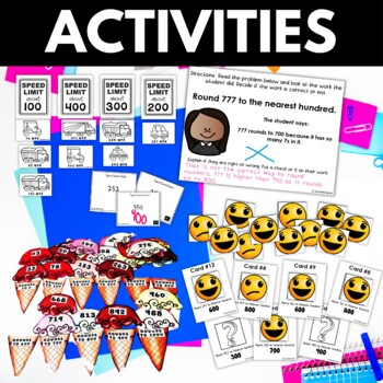 Rounding BUNDLE - Rounding Worksheets Activities Games