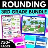 Rounding BUNDLE - Rounding Worksheets Activities Games