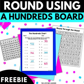 Rounding Using the Hundreds Chart  FREEBIE