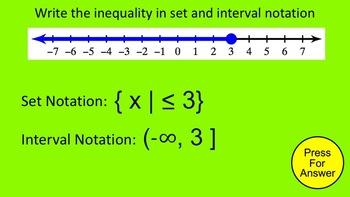 How I Teach Set and Interval Notation
