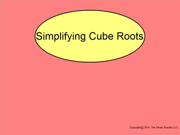 How I Teach Simplifying Cube Roots