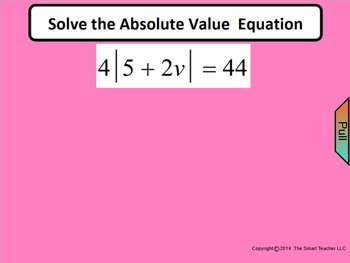 How I Teach Solving Absolute Value Equations