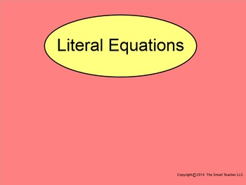 How I Teach Solving Literal Equations