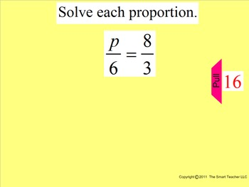 How I Teach Solving Proportions