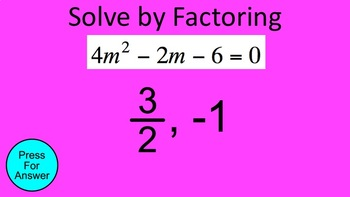 How I Teach Solving Quadratic Functions by Factoring