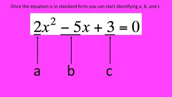 How I Teach Solving Quadratics using the Quadratic Formula