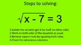 How I Teach Solving Square Root Equations
