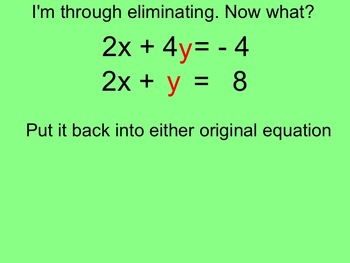 How I Teach Solving Systems by Elimination