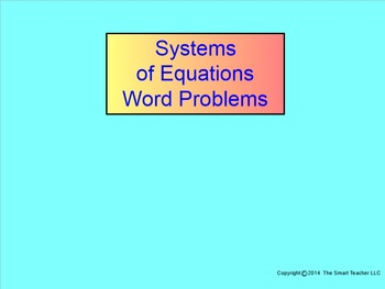 How I Teach Systems of Equations Word Problems