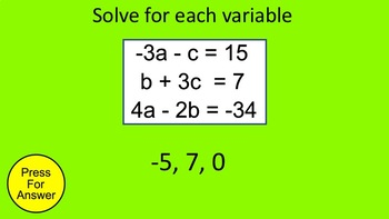 How I Teach Systems of Equations in Three Variables