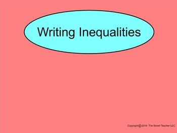 How I Teach Writing Inequalities