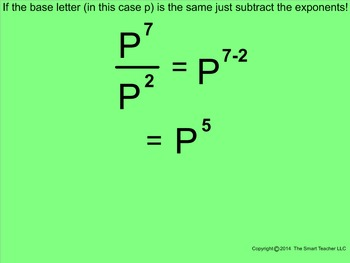 How I Teach the Division Property of Exponents