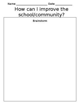 How I can Improve the school/community (VA SOL Aligned)