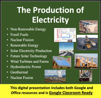 Electricity Production - Electricity PowerPoint Lesson and Notes Package