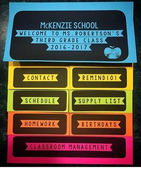 Editable Back To School Night Flip Book!
