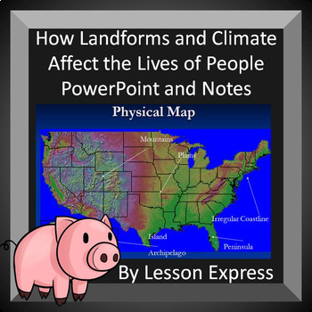 How Landforms and Climate Affect Civilizations and People--PowerPoint and notes