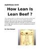 How Lean is Lean Beef Lab