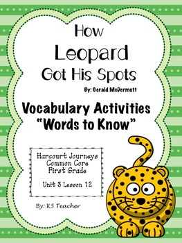 How Leopard Got His Spots - Vocabualry