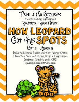 How Leopard Got His Spots Journeys First Grade Print and Go