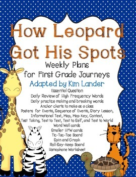 How Leopard Got His Spots Journeys Lesson Plans and Supplemental Materials