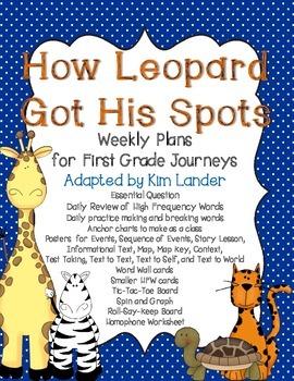 How Leopard Got His Spots Journeys Lesson Plans and Supple
