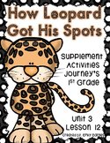 How Leopard Got His Spots Journeys Supplement Activities 1st Grade Lesson 12