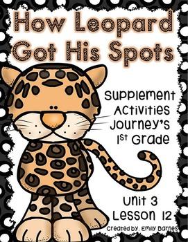 How Leopard Got His Spots Journeys Supplement Activities 1