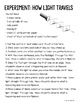 How Light Travels Interactive Notebook Lesson
