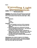 How Light Travels Science Investigation-- Inquiry Activity