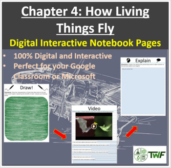 How Living Things Fly - Digital Interactive Notebook Pages