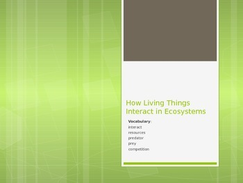 How Living Things Interact in an Ecosystem