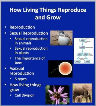How Living Things Reproduce and Grow - Biology Lesson Package