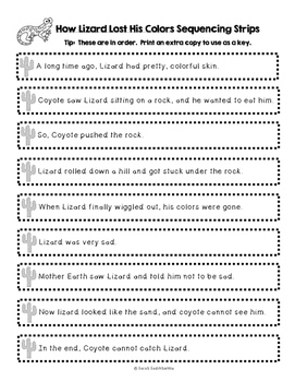 How Lizard Lost His Colors, folktale, Sara Shapiro, Level F Guided Reading Plan