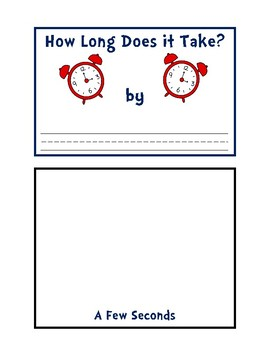 How Long Does It Take? No-Prep Time Acivity