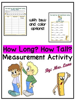 How Long? How Tall? Measurement Activity