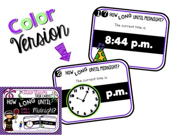 How Long Until Midnight? Intervals of Time Task Cards