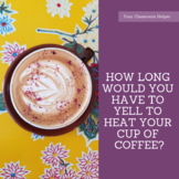 How Long Would You Have to Yell to Heat Your Cup of Coffee