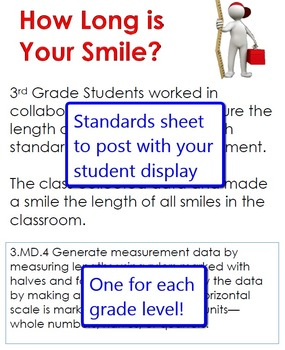 How Long is Your Smile Measurement Activity for Grades 3-5